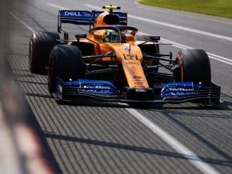 Norris durante la clasificación en Australia