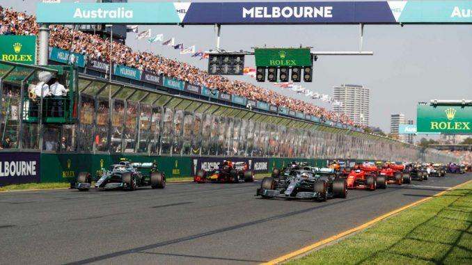 Salida del GP de Australia 2019