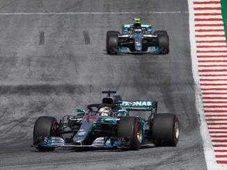Los dos Mercedes en Austria el año pasado