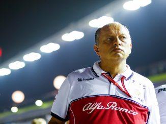 Vasseur durante el GP de Singapur