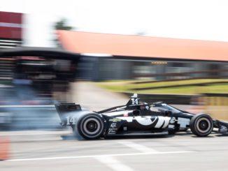 Tatiana Calderón en el Test de Indycar (Twitter:@AJFoytRacing)