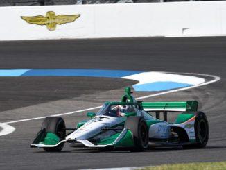 Callum Ilott en la prueba de IndyCar en Indianápolis (Foto: @juncosracing)